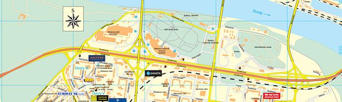 Mapa Petržalky