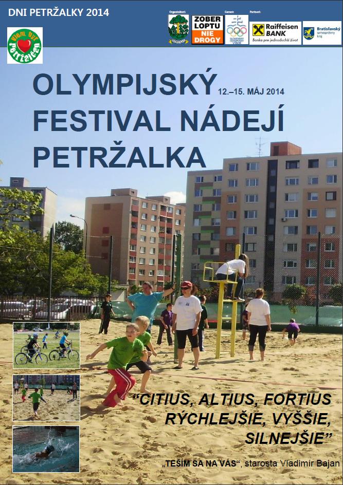 Olympijsky festival nadedi Petrzalka - plagat