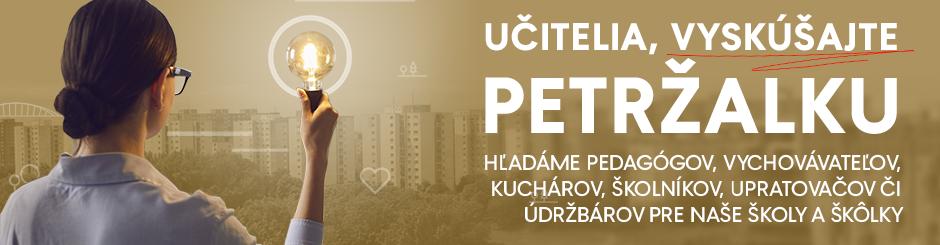 Petržalka hľadá zamestnancov pre svoje školy a škôlky.