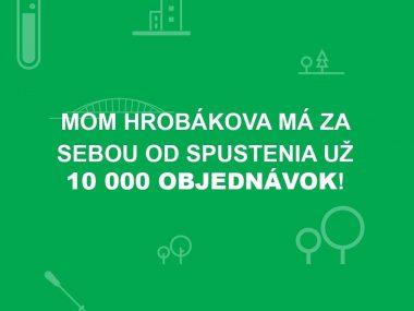 10 000 objednávok od spustenia objednávkového systému na MOM Hrobákova